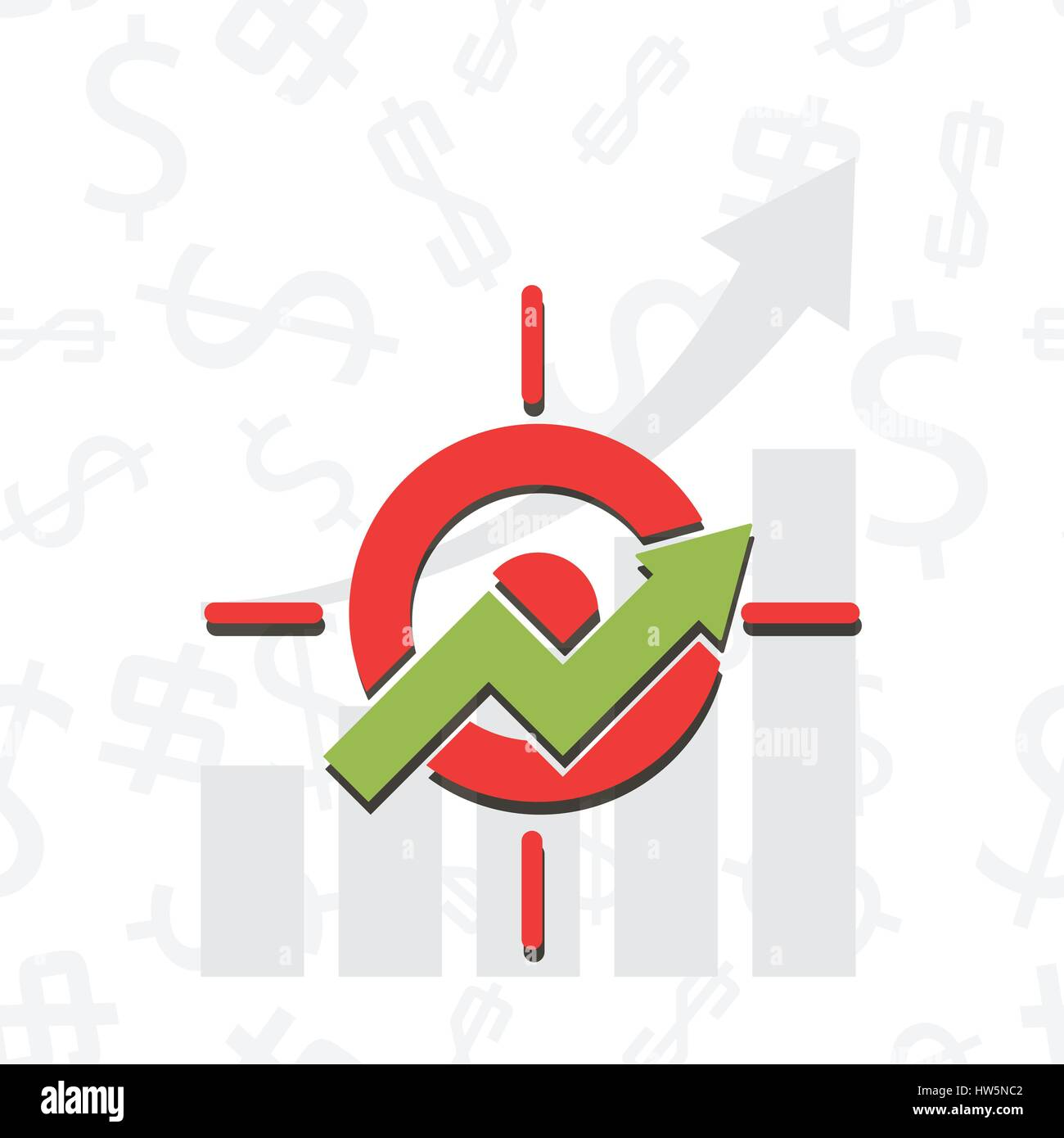 Upward chart with target symbol financial success abstract vector upward chart with target symbol financial success abstract vector illustration business development strategy emblem investment efficiency concept buycottarizona Image collections