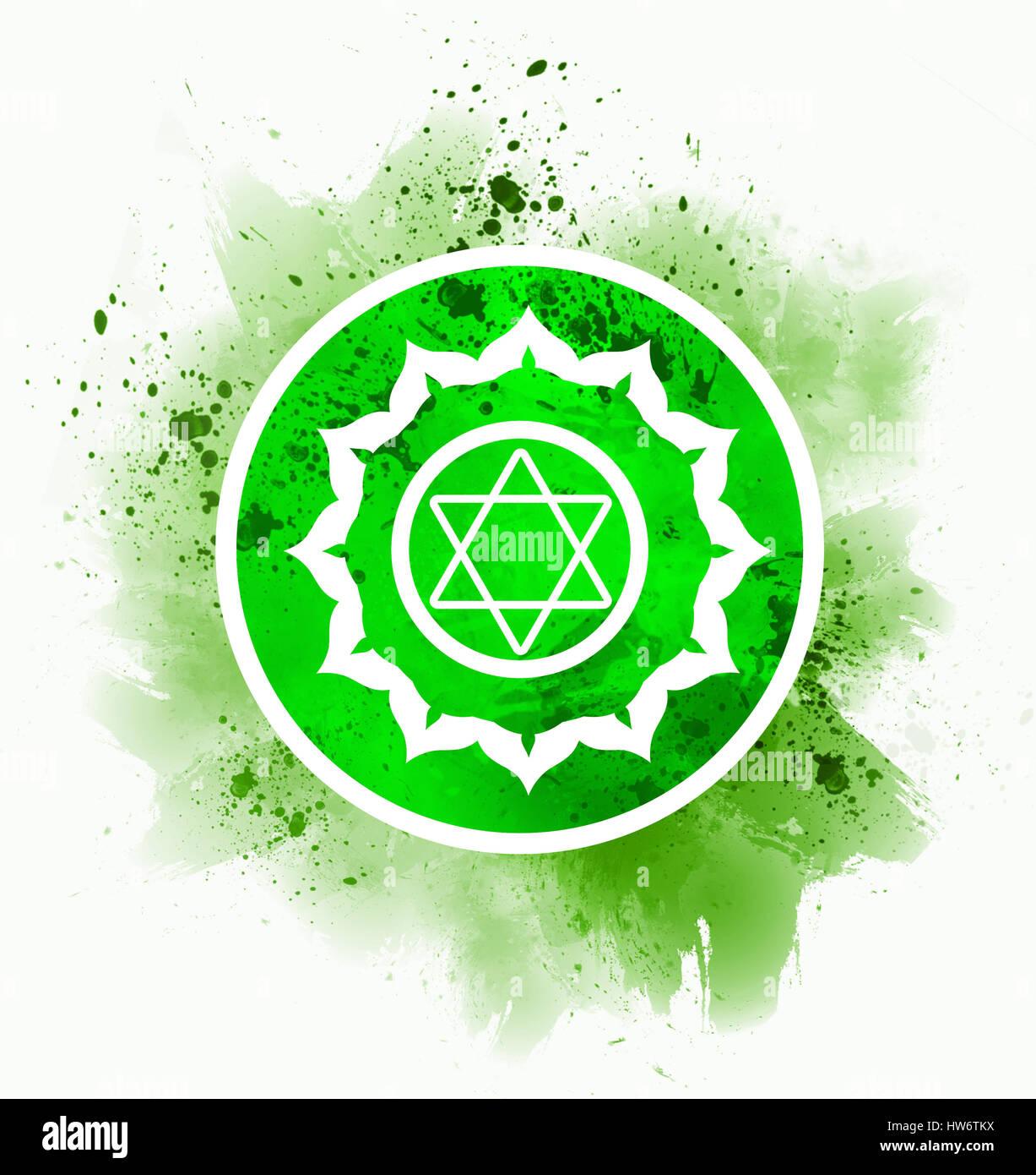 Anahata chakra symbol stock photo 135990062 alamy anahata chakra symbol buycottarizona Image collections