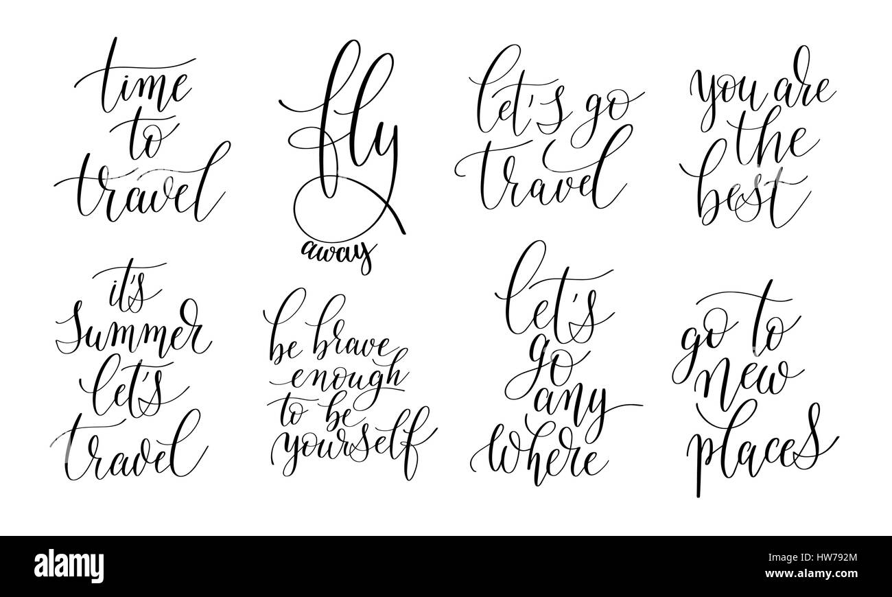 Positive Quotes On Life Set Of 8 Hand Written Lettering Positive Quotes About Life And T