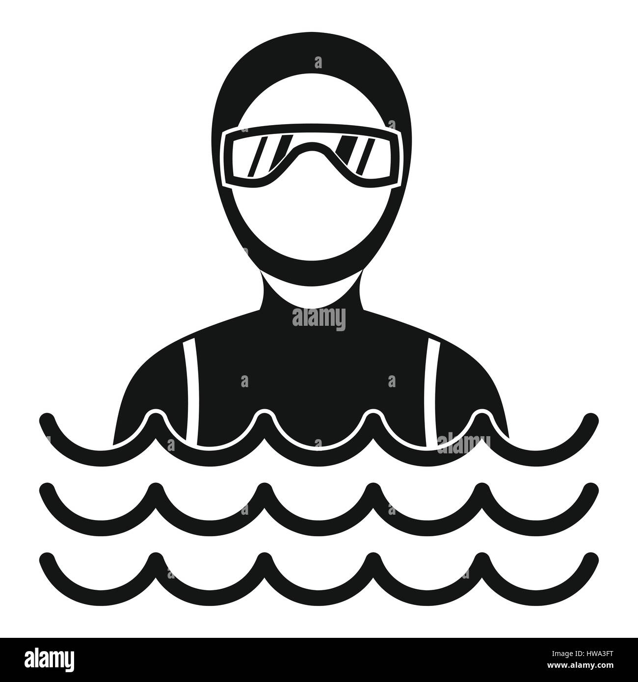 Scuba diver man in diving suit icon simple style stock vector art scuba diver man in diving suit icon simple style publicscrutiny Gallery