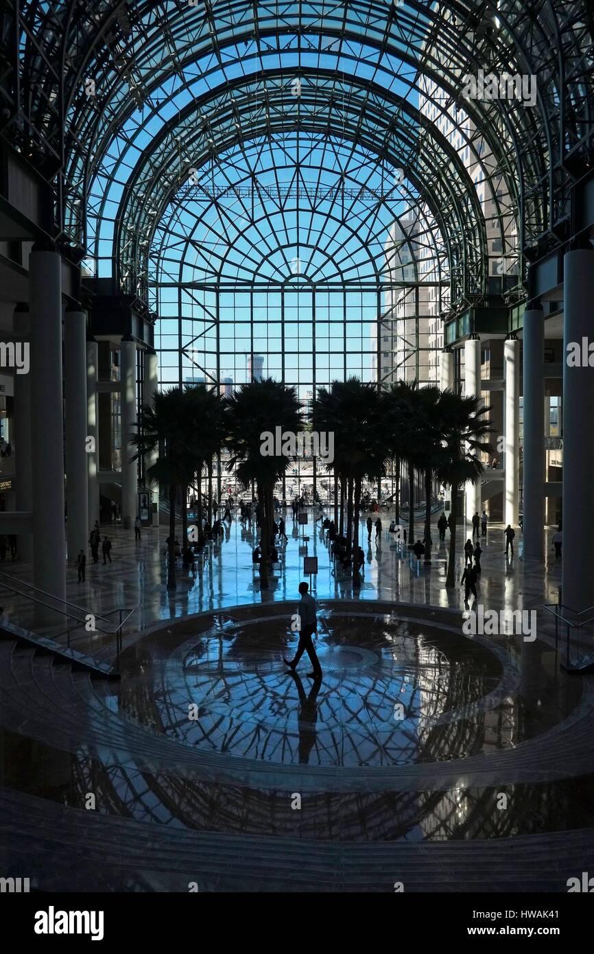 united states new york manhattan the winter garden atrium is a