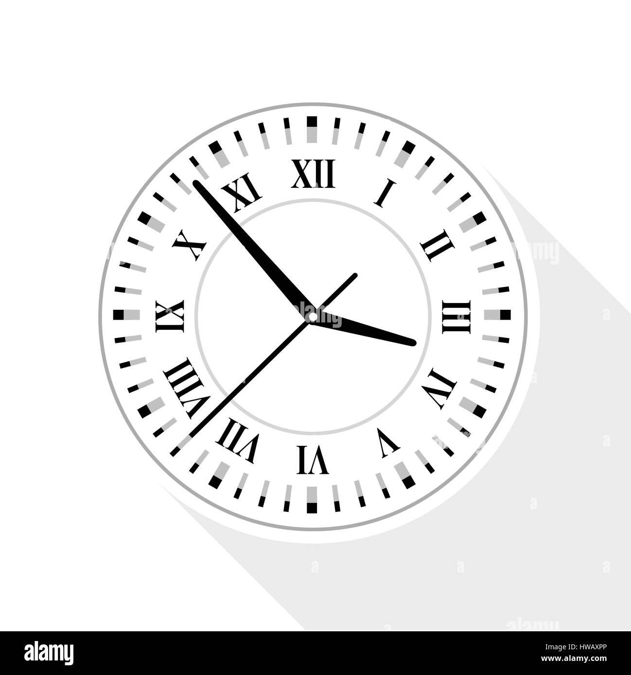Wall clock with roman numerals icon flat style stock vector art stock vector wall clock with roman numerals icon flat style amipublicfo Choice Image