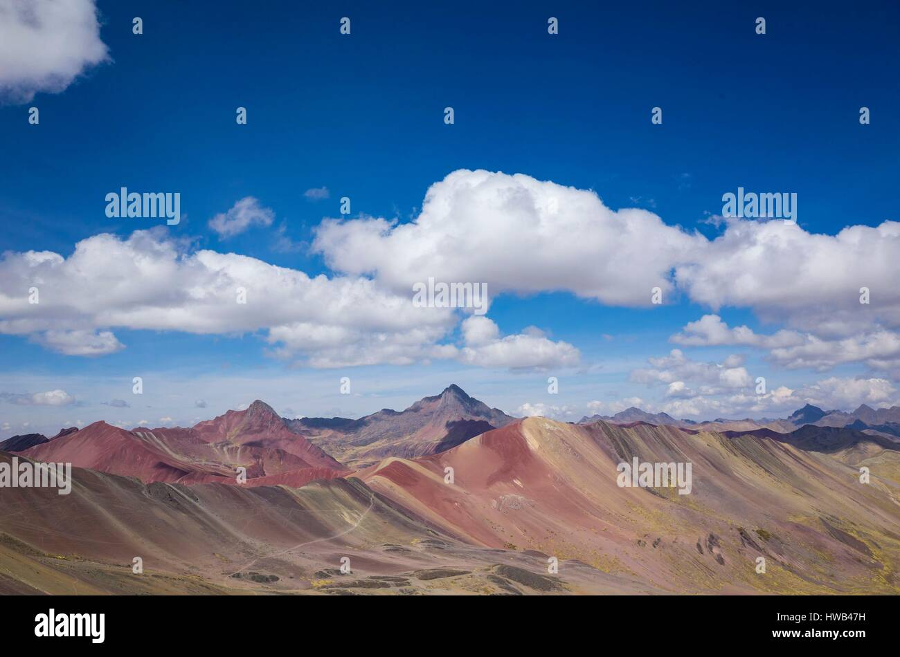 Mountain living near cusco peru royalty free stock photo - Peru Cusco Area Andes Cordillera Ausangate Range The Winicunca Also Known As Rainbow Mountain Is A Gelological Wonder Located At 4800 Meters Above