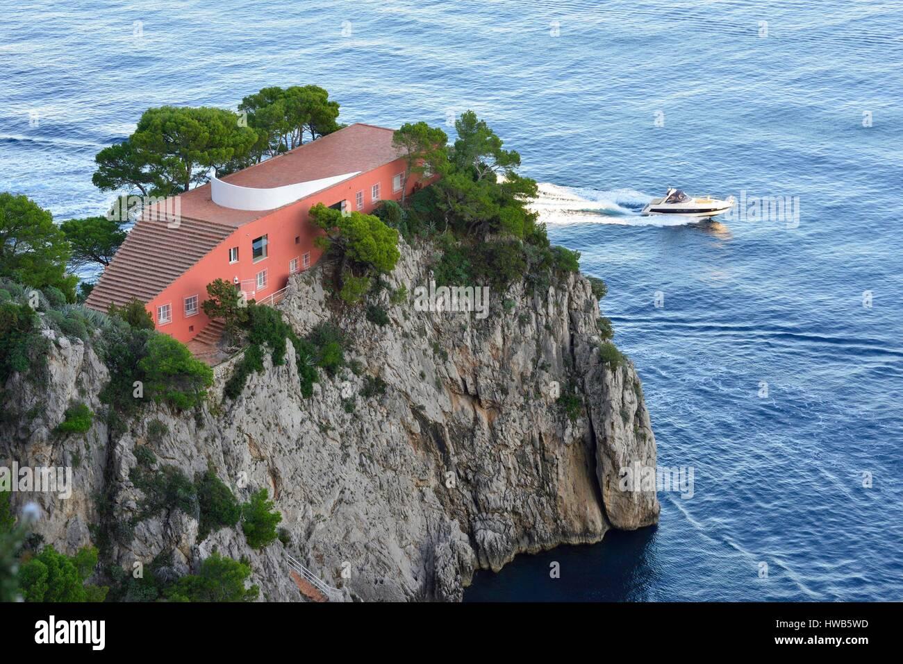 Italy campania capri island villa malaparte 1937 by for Villa curzio malaparte