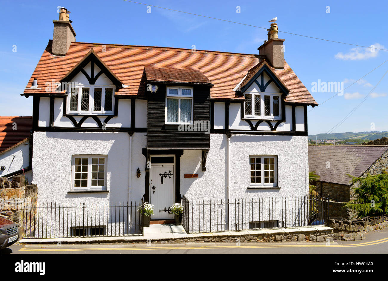 Mock Tudor Style House In North Wales
