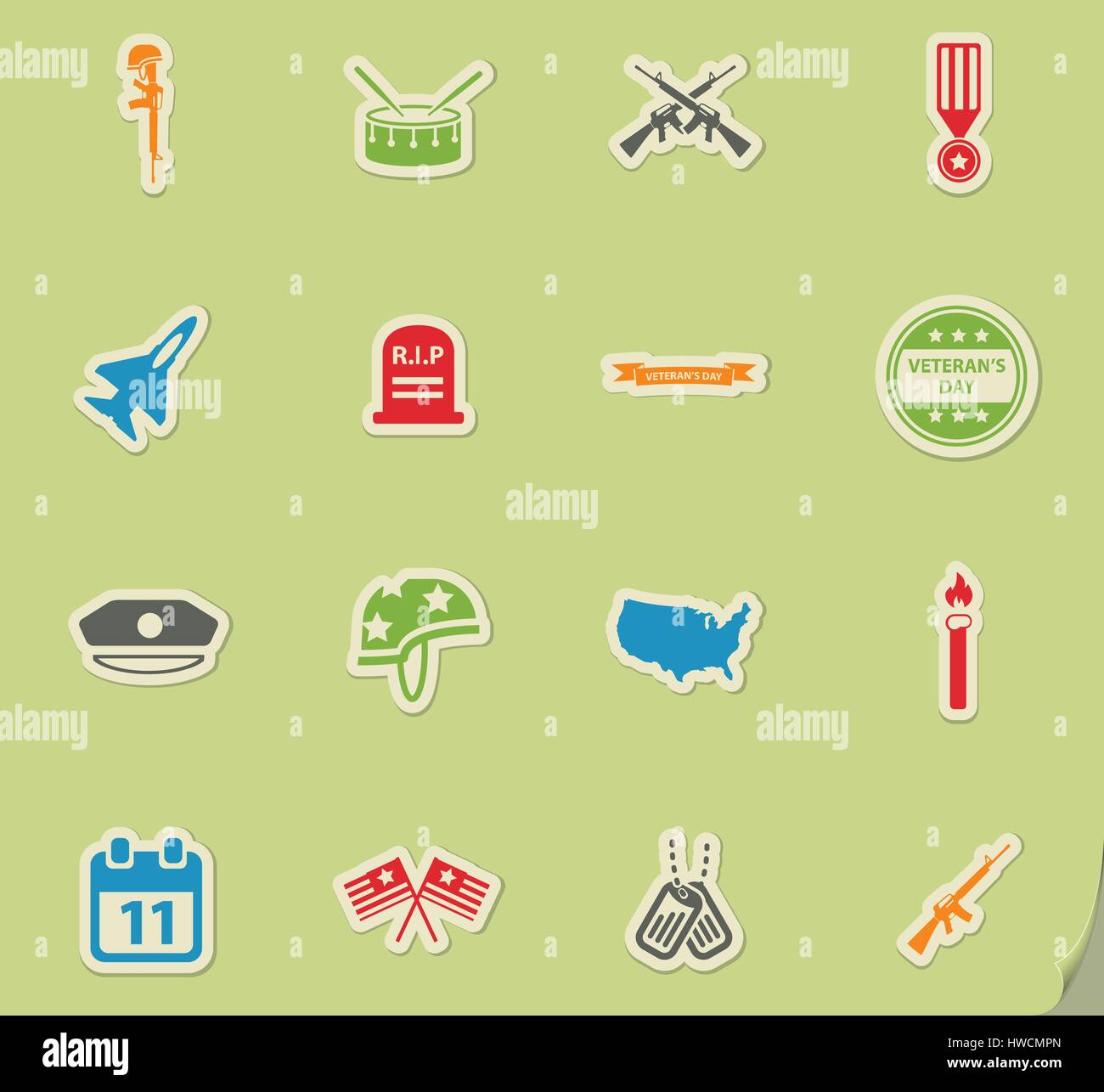Veterans day simply symbols for web icons stock vector art veterans day simply symbols for web icons biocorpaavc