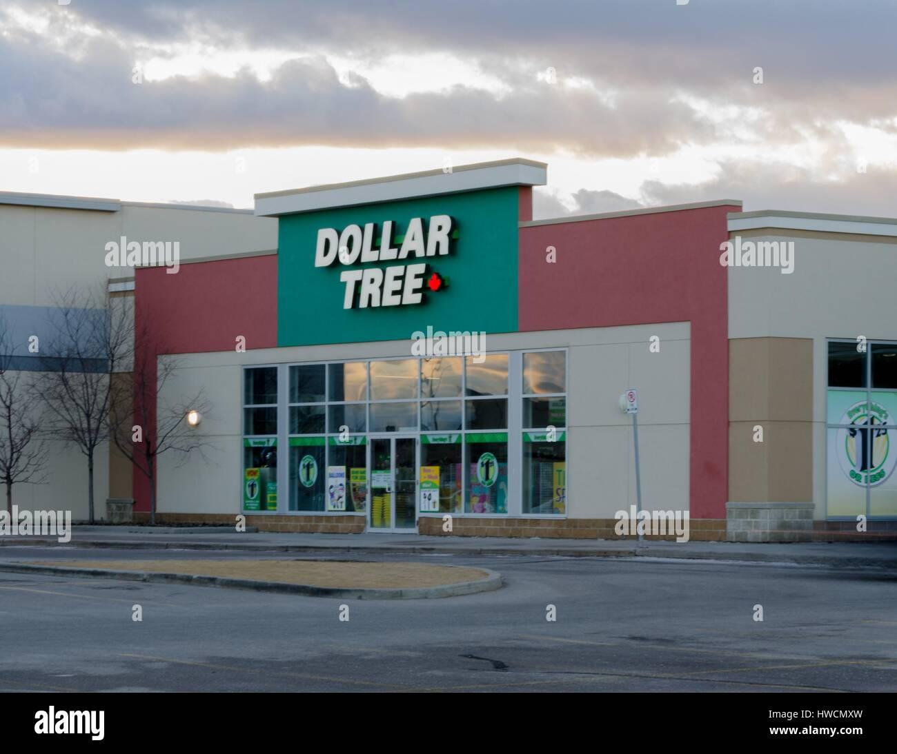A Dollar Tree Retail Store In Calgary, Alberta, Canada