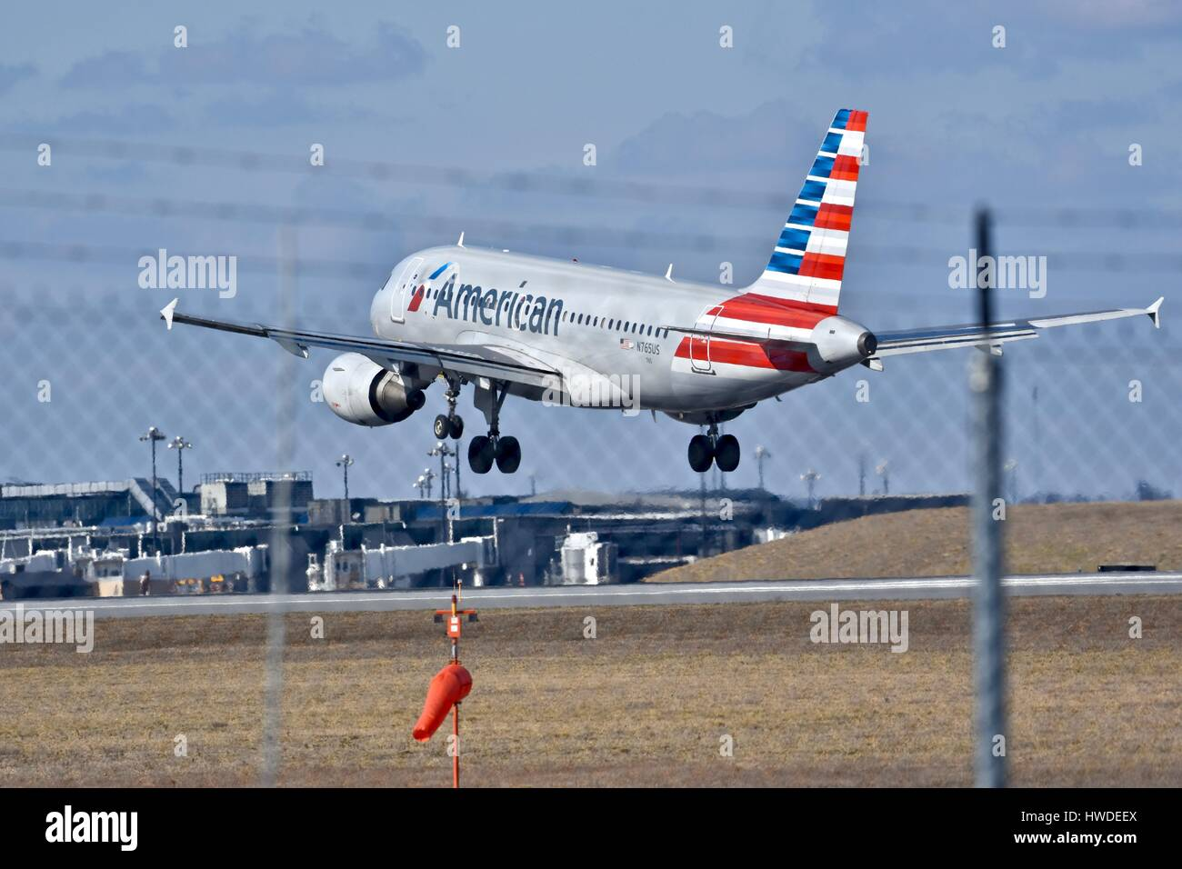 American Airlines Plane Preparing To Land At The Bwi