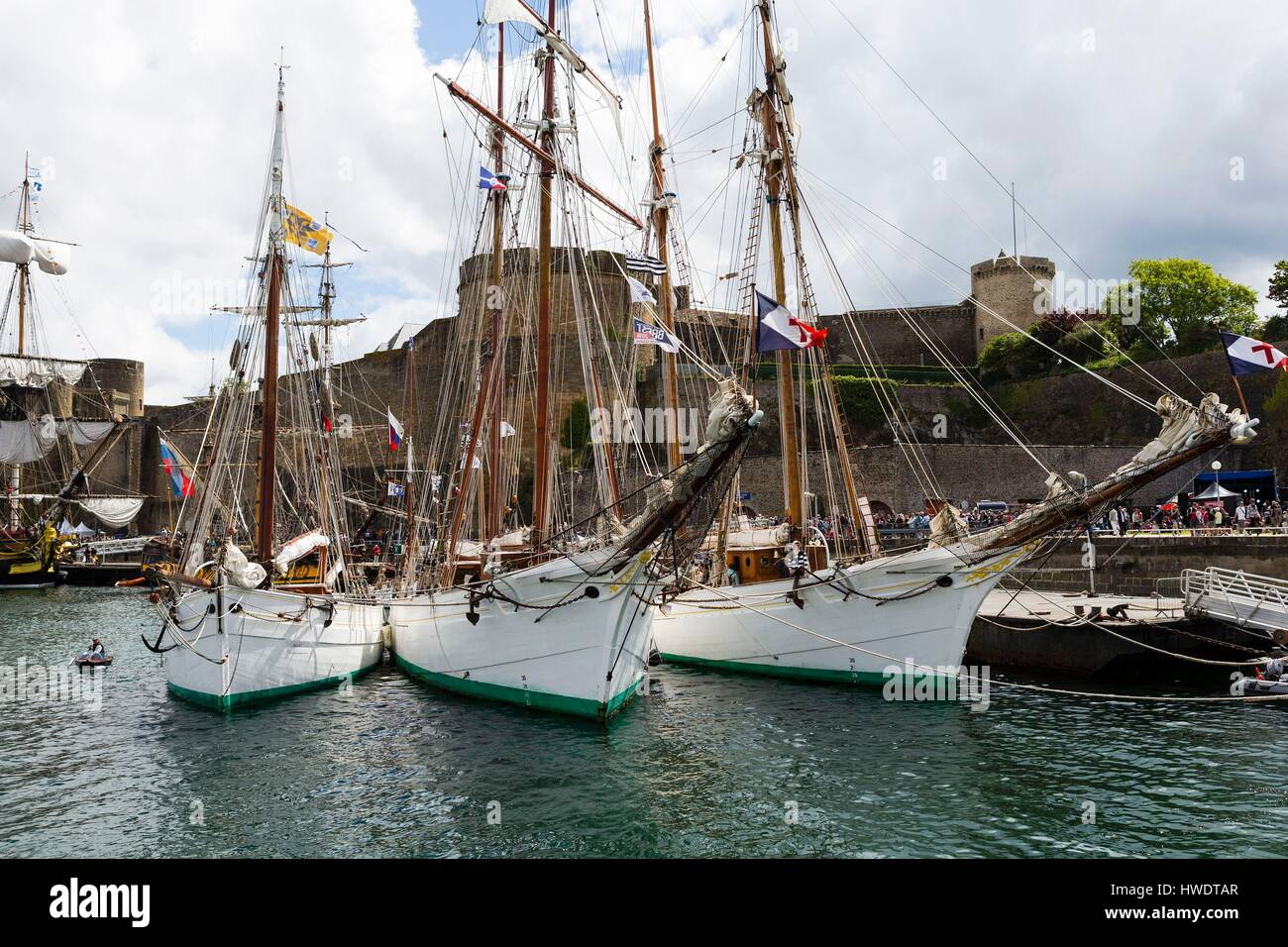 france finistre brest the traditional boats of the french navy in front of the castle of brest in penfeld during the maritime parties of brest 2016 - Traditional Castle 2016