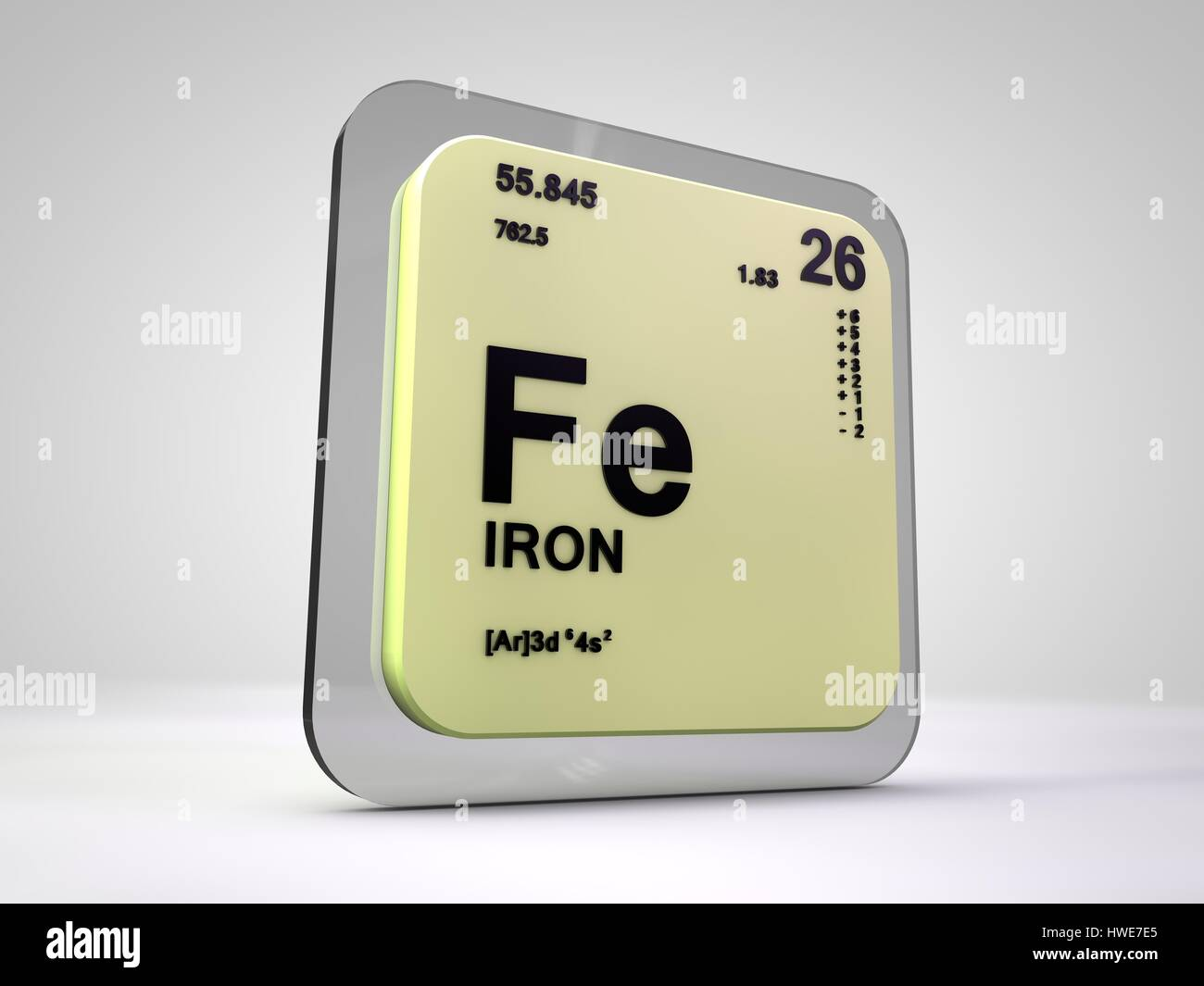Iron fe chemical element periodic table 3d render stock photo iron fe chemical element periodic table 3d render gamestrikefo Image collections