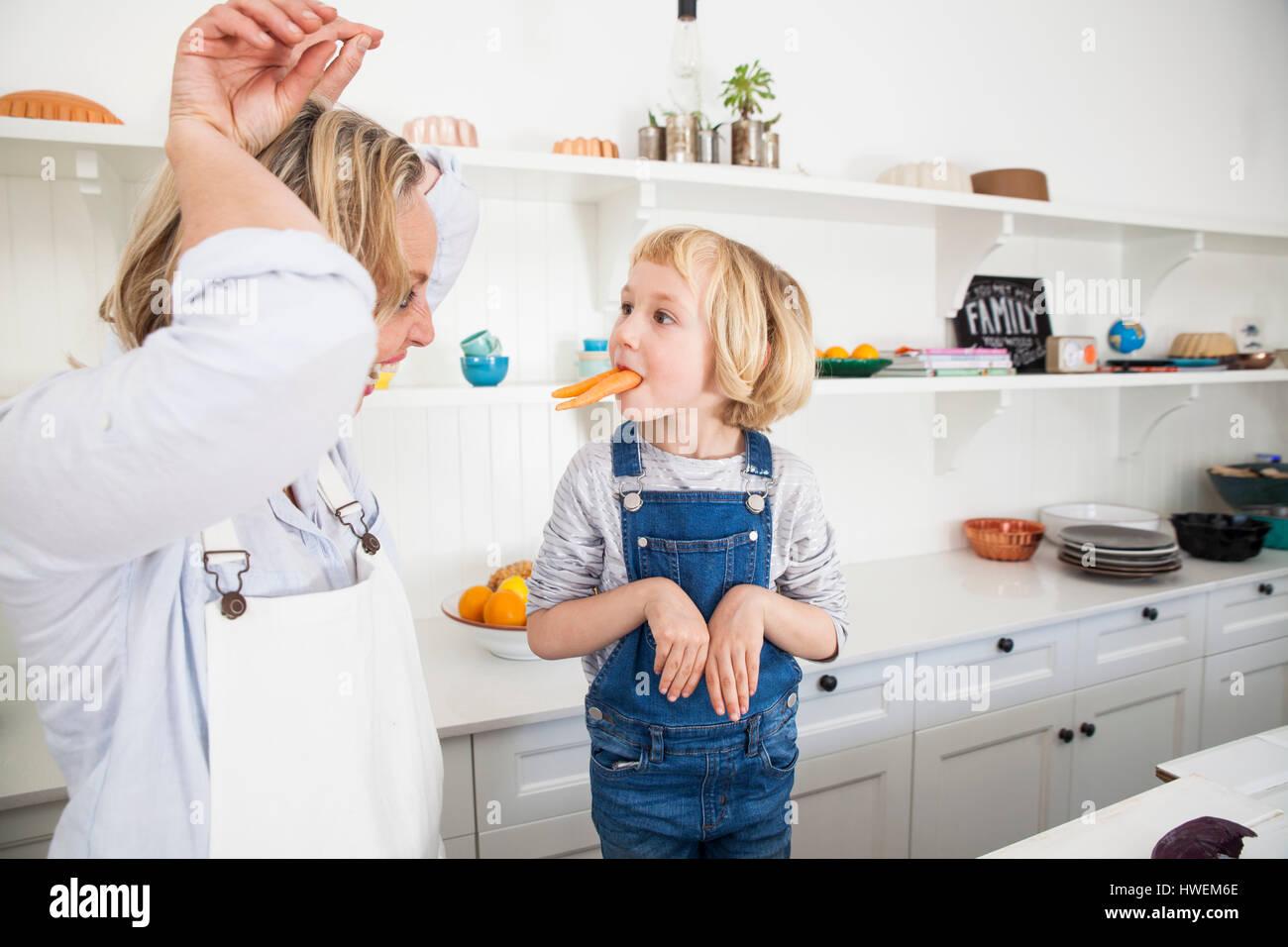 JEANNIE: Mature kitchen videos