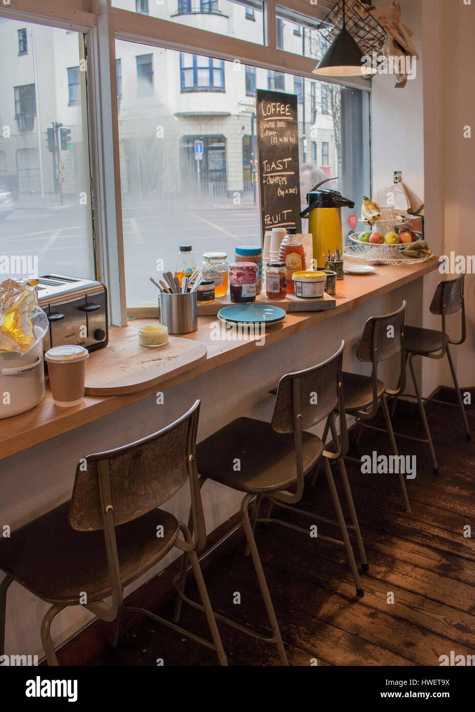 Breakfast Bar At The Little Man Coffee Company In Cardiff Wales