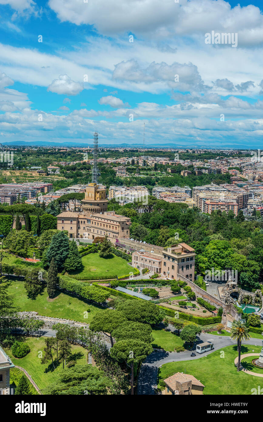 Aerial View Of Vatican City Of Rome. Vertical Cityscape