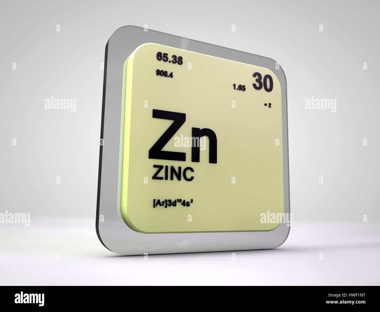 Zinc zn chemical element periodic table 3d render stock photo stock photo zinc zn chemical element periodic table 3d render gamestrikefo Image collections