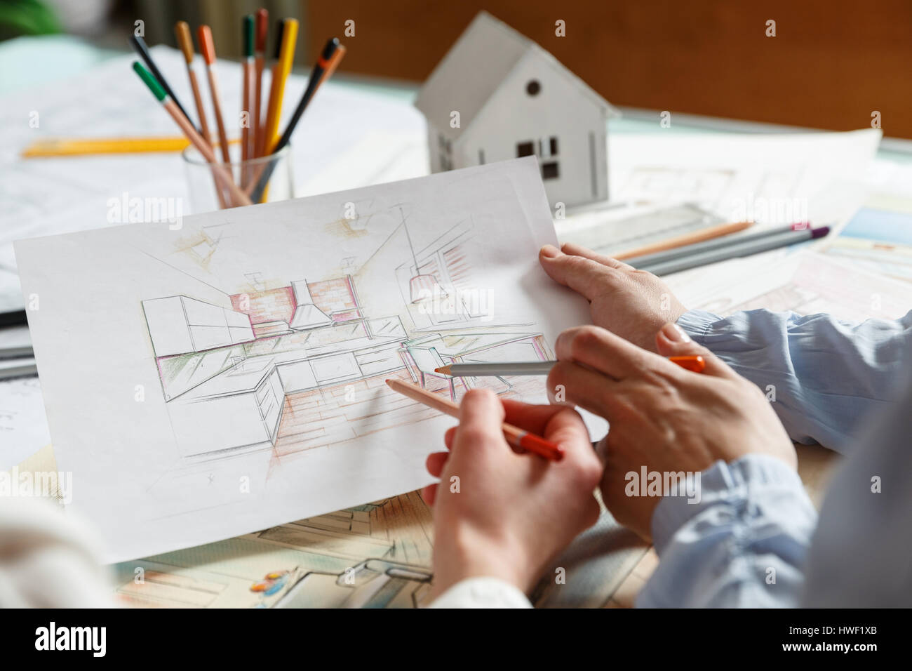 Interior Design Hand Drawings Home Design Ideas