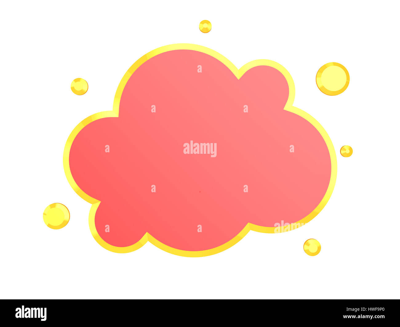 3d illustration of red cloud symbol isolated over white background 3d illustration of red cloud symbol isolated over white background biocorpaavc Gallery