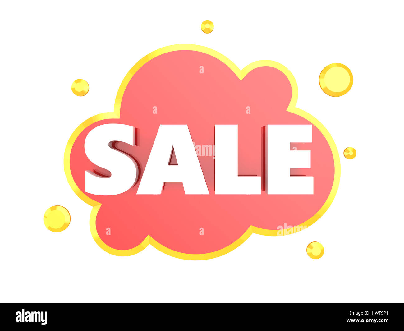 3d illustration of sale sign and cloud symbol over white 3d illustration of sale sign and cloud symbol over white background biocorpaavc Gallery