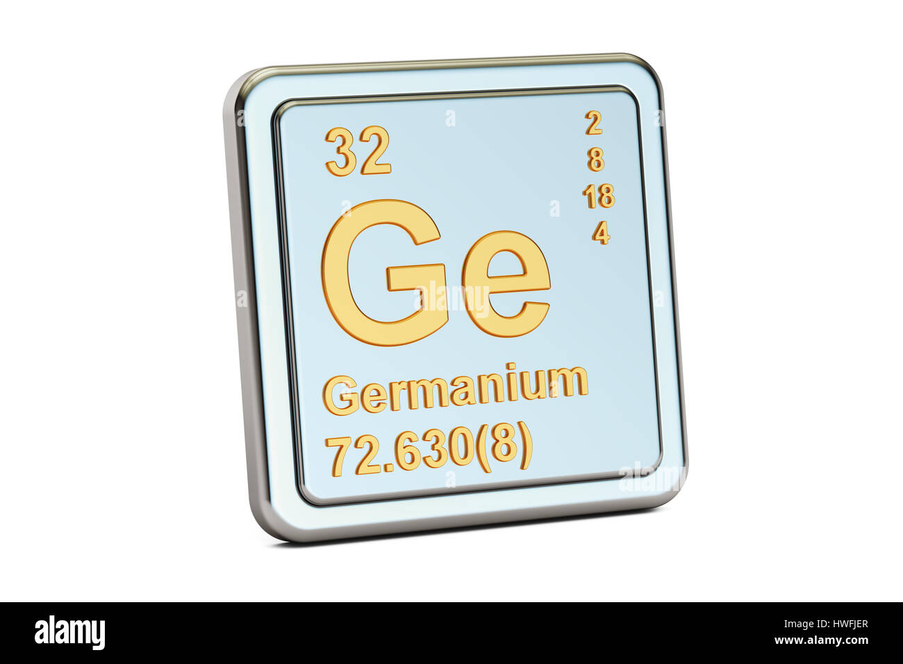 Germanium ge chemical element sign 3d rendering isolated on germanium ge chemical element sign 3d rendering isolated on white background biocorpaavc Gallery