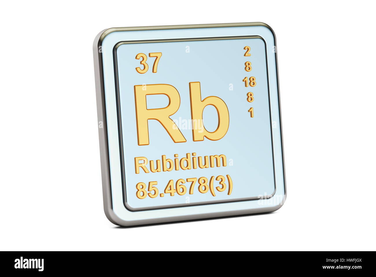 Rubidium rb chemical element sign 3d rendering isolated on white rubidium rb chemical element sign 3d rendering isolated on white background buycottarizona Choice Image