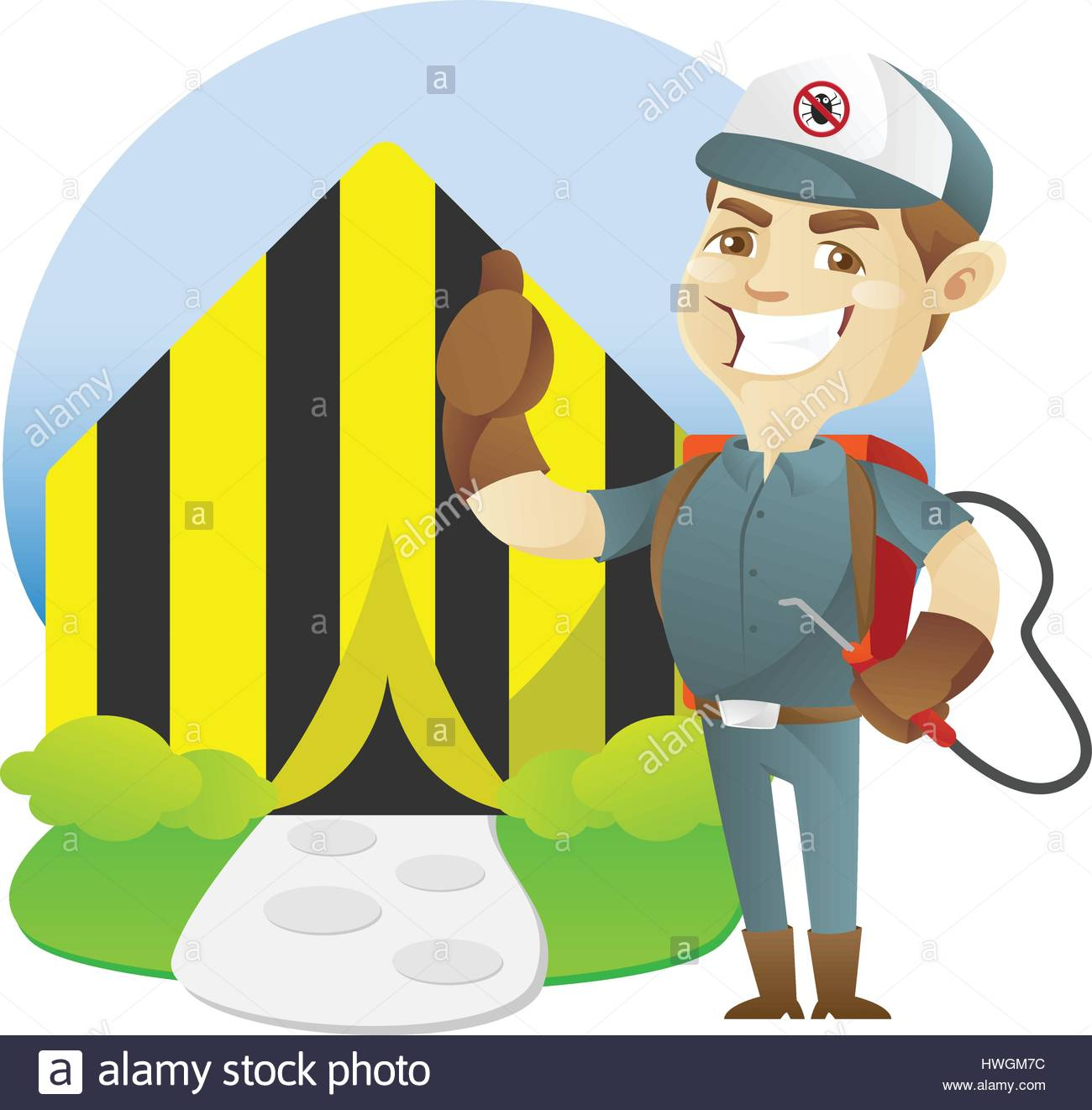 Pest control service tenting home  sc 1 st  Alamy & Pest control service tenting home Stock Vector Art u0026 Illustration ...