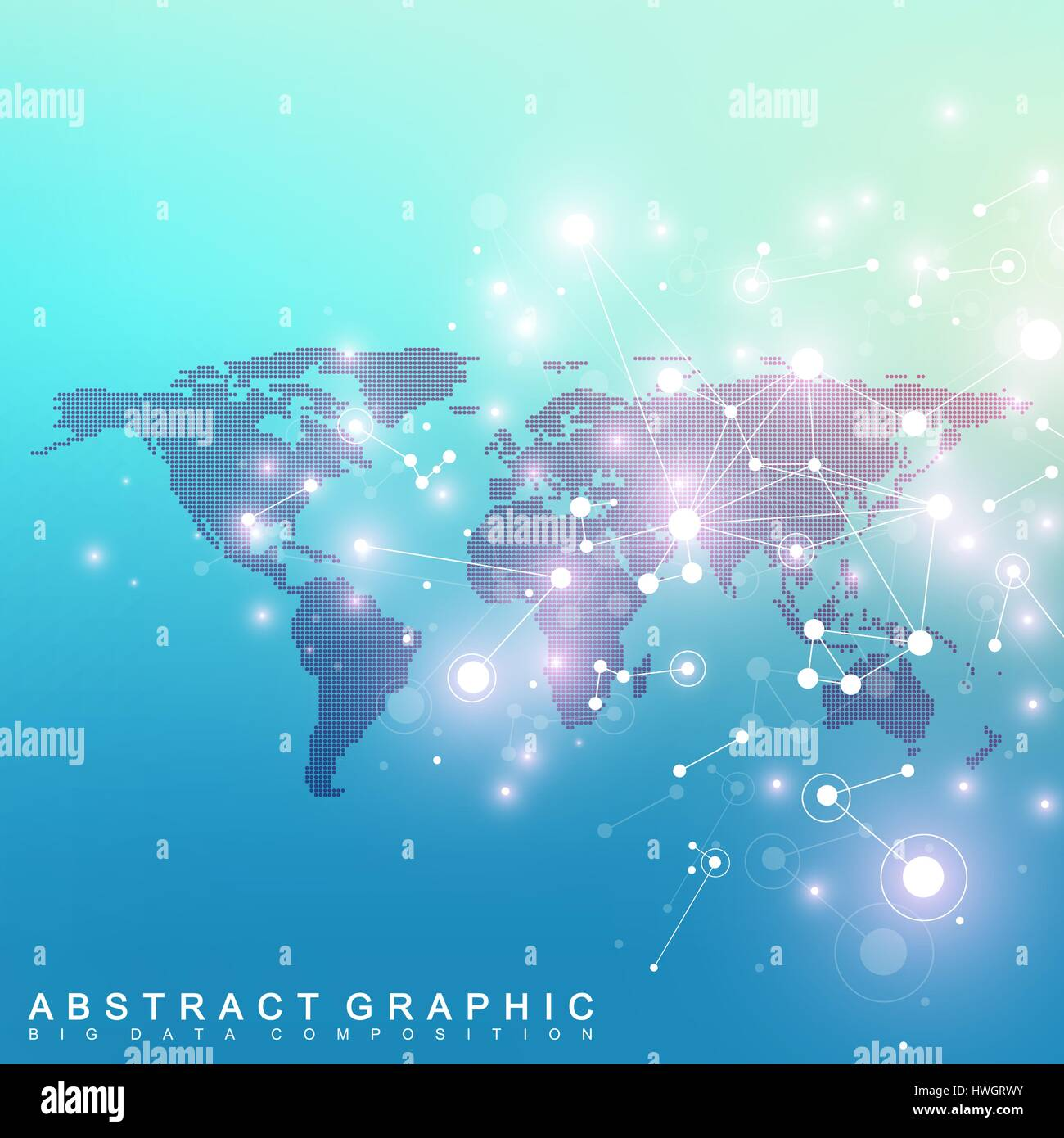 Geometric graphic background communication with dotted world map geometric graphic background communication with dotted world map big data complex particle compounds network connection lines plexus gumiabroncs Gallery