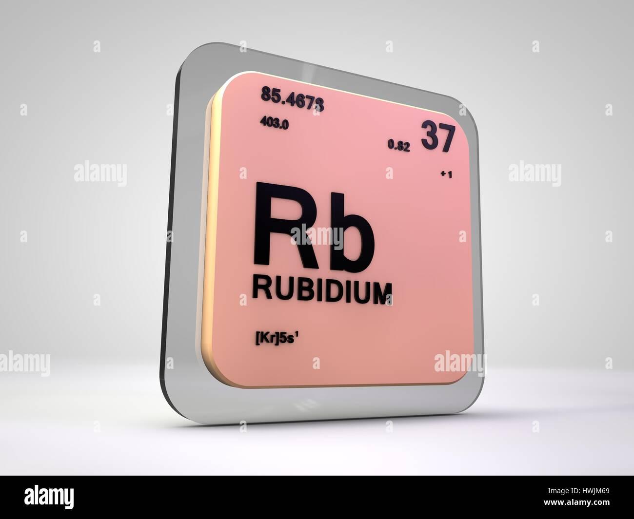 Rubidium rb chemical element periodic table 3d render stock rubidium rb chemical element periodic table 3d render buycottarizona Choice Image