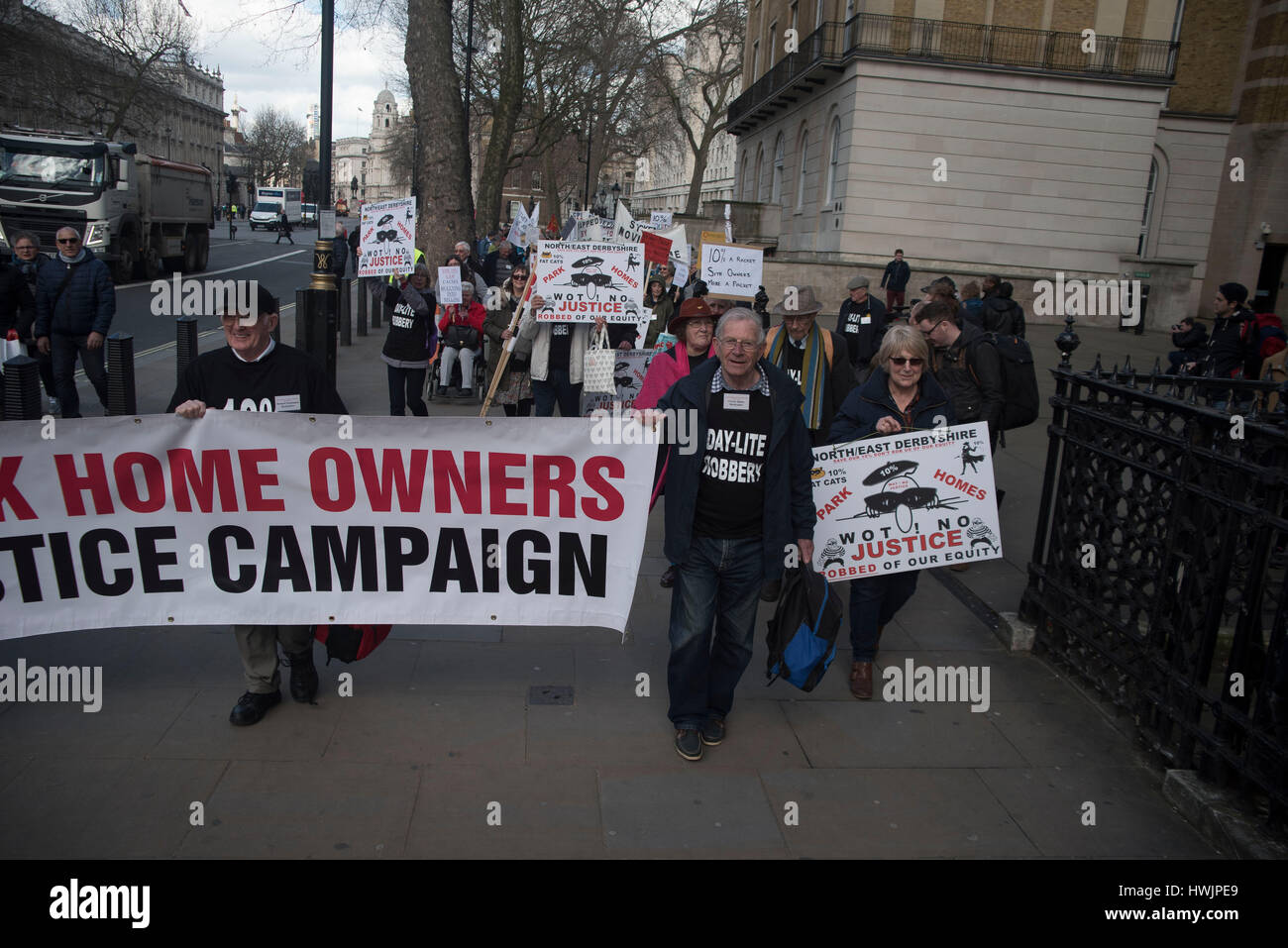 The Park Home Owners Justice Campaign National Rally Pictured Outside 10 Downing Street Hundreds Of Residents Attended At When Petition