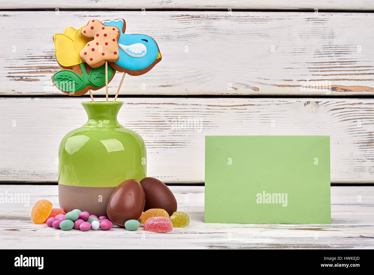 Easter Sweets Blank Greeting Card Stock Photo Royalty Free Image