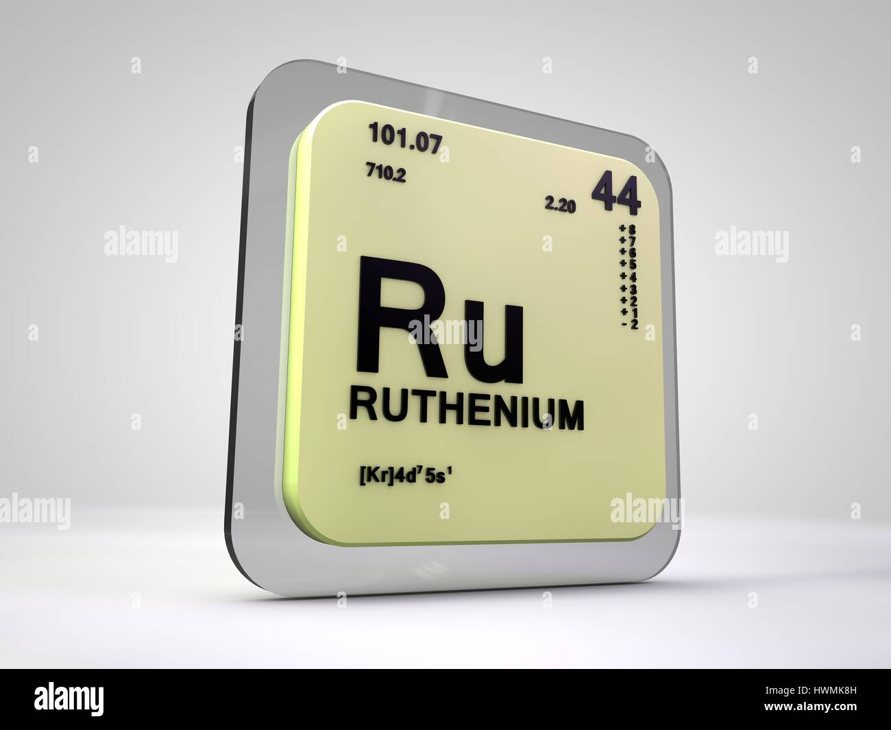 Ruthenium ru chemical element periodic table 3d render stock ruthenium ru chemical element periodic table 3d render gamestrikefo Choice Image