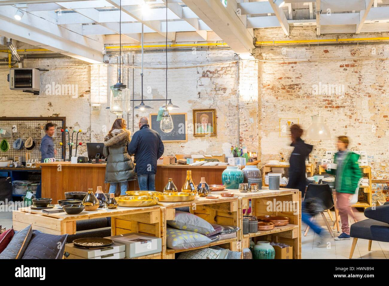 Belgium, Brussels, Ixelles, Chatelain District, Decoration Shop Lulu Home  Interior Of 850 M²