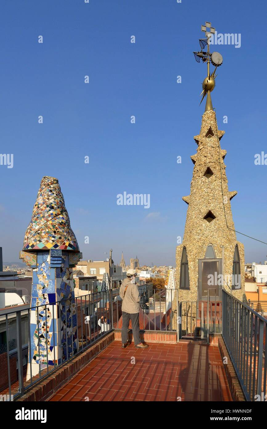 Guell Palace Roof