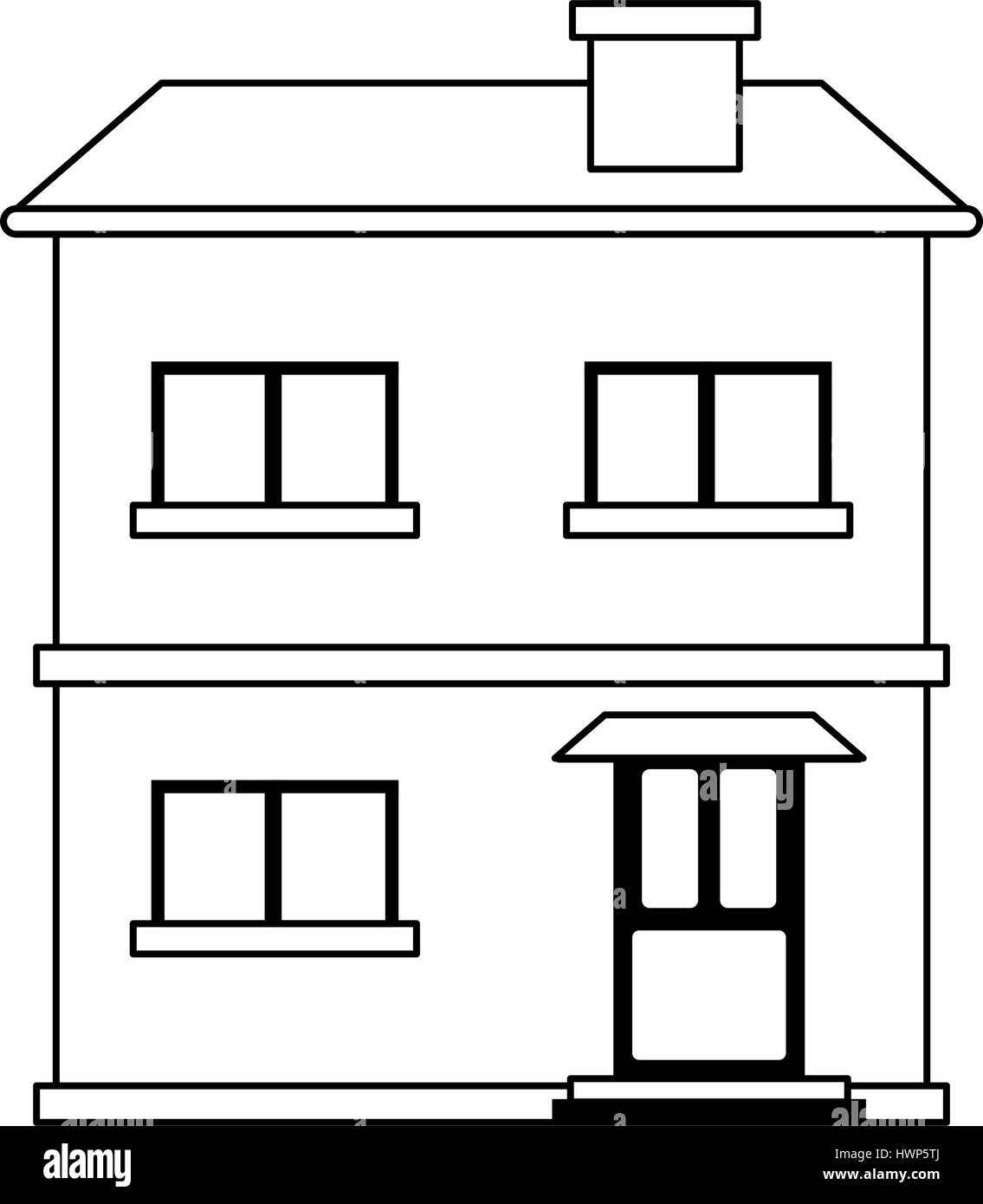 Two Story House Icon Image