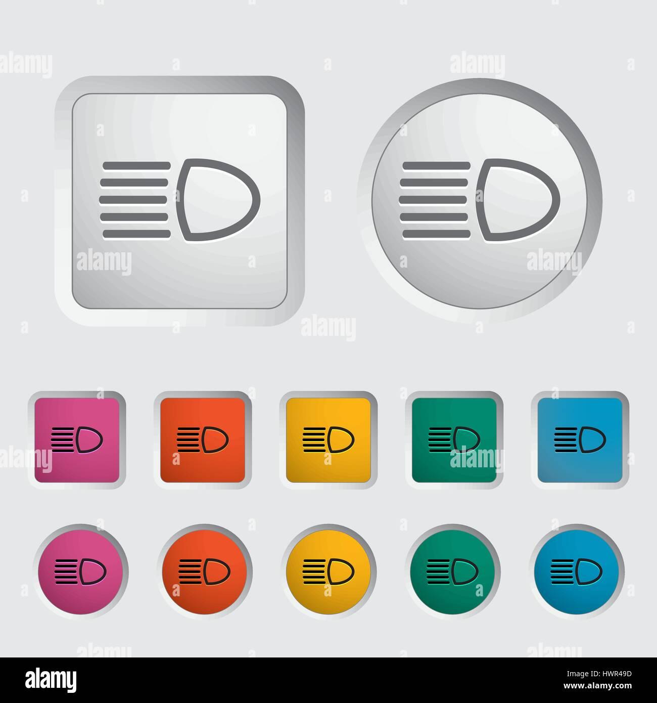 headlight icon vector illustration eps stock vector art