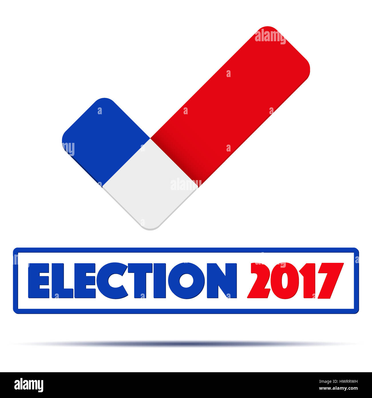 Symbol of election 2017 in france check mark symbol in the form of symbol of election 2017 in france check mark symbol in the form of french flag politics illustration isolated on white background biocorpaavc Image collections