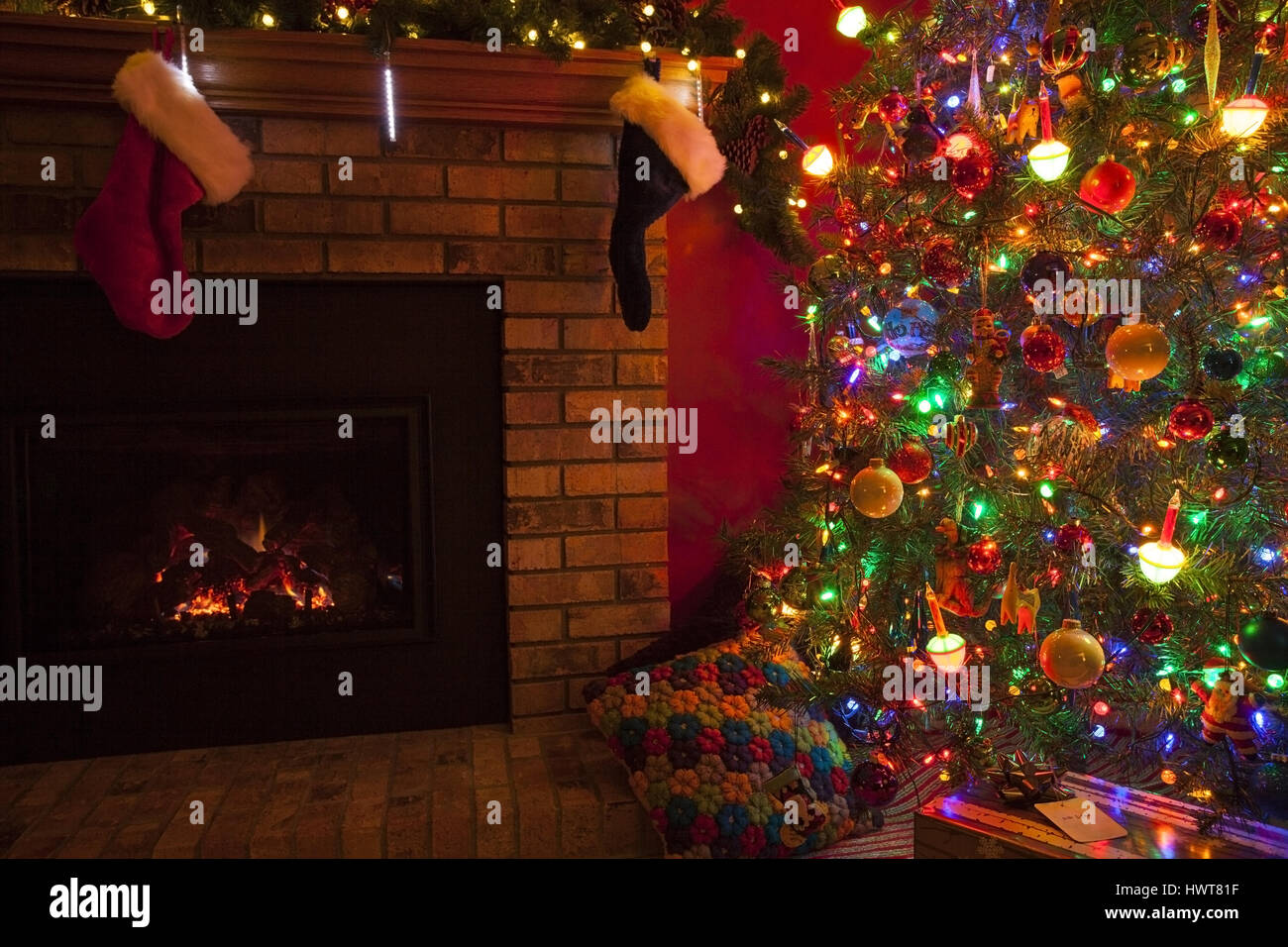 images of christmas fireplace ornament with stockings all can
