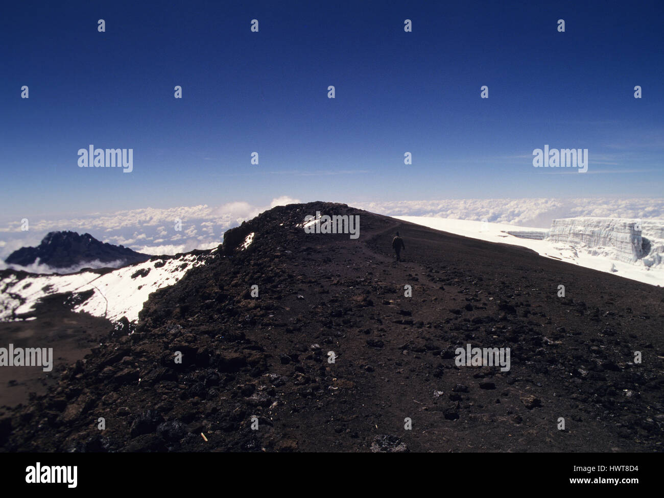 View From The Top OfMount Kilimanjaro The Highest Point In Africa - Distance above sea level