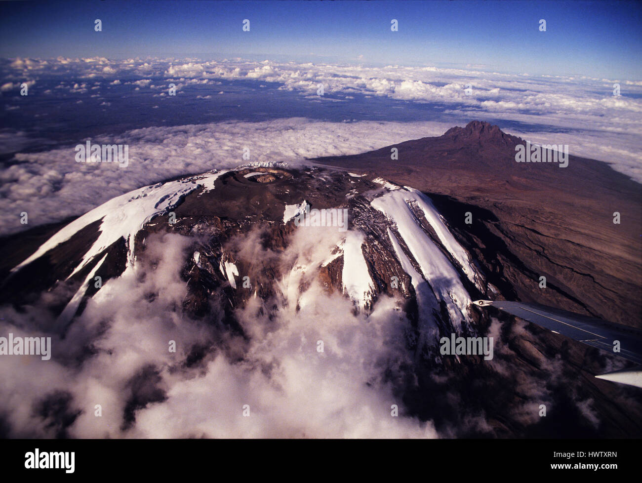 Snow At The Peak Of Mount Kilimanjaro The Highest Point In Africa - Distance above sea level