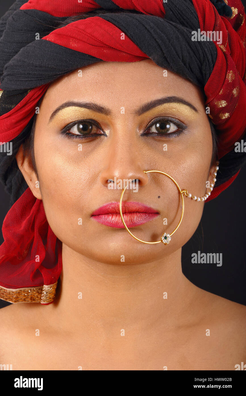 Nose Ring Indian Stock Photos & Nose Ring Indian Stock Images - Alamy