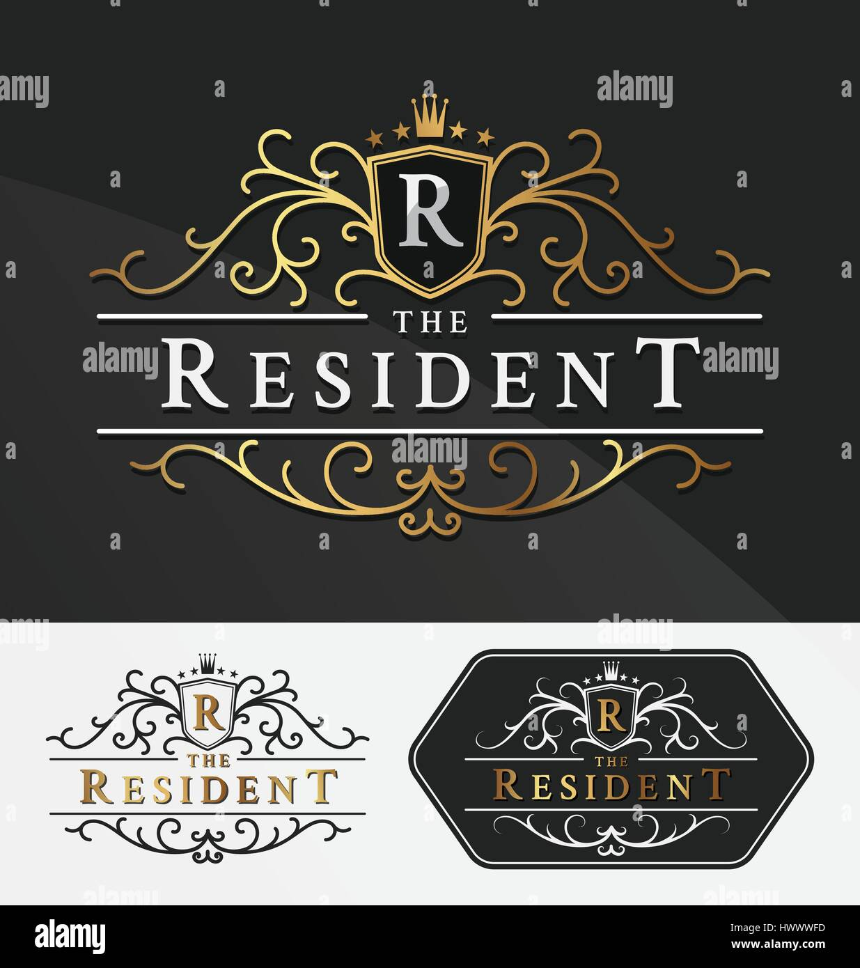 Luxurious Royal Logo Vector Re-sizable Design Template Suitable ...