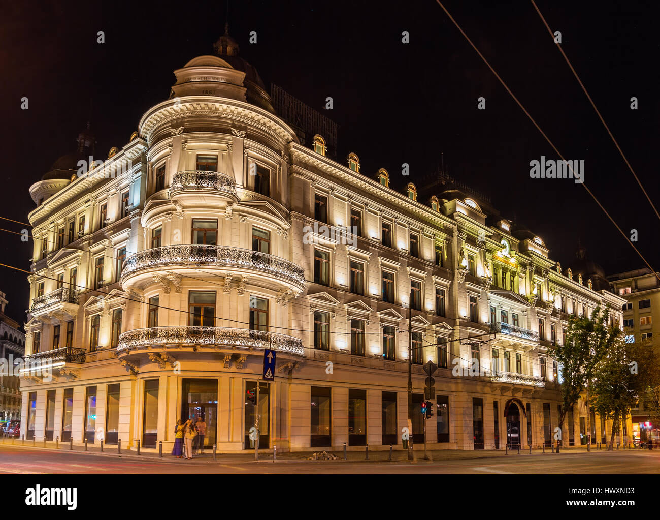 grand hotel du boulevard in bucharest a romanian historic monum stock photo 136426559 alamy. Black Bedroom Furniture Sets. Home Design Ideas
