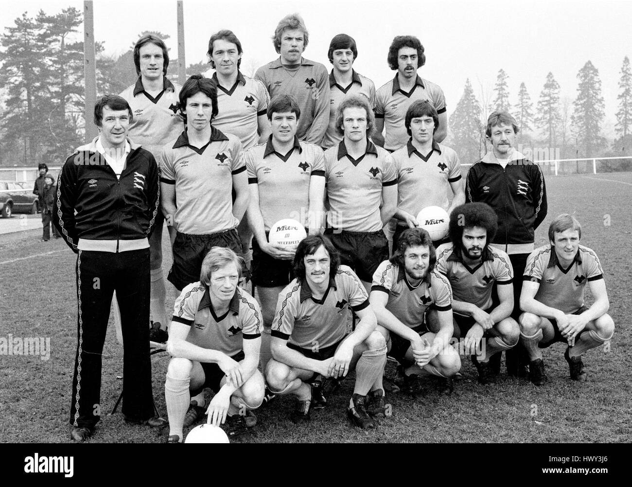 Wolverhampton Wanderers FC team squad 1980 Mel Eves Norman Bell