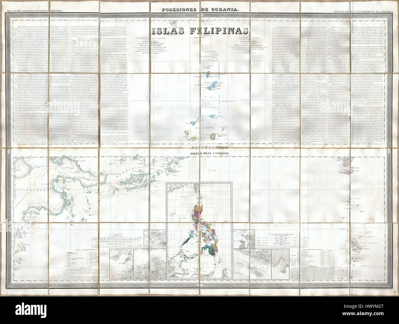 1852 Coello Morata Case Map of the Philippines No 3 Geographicus