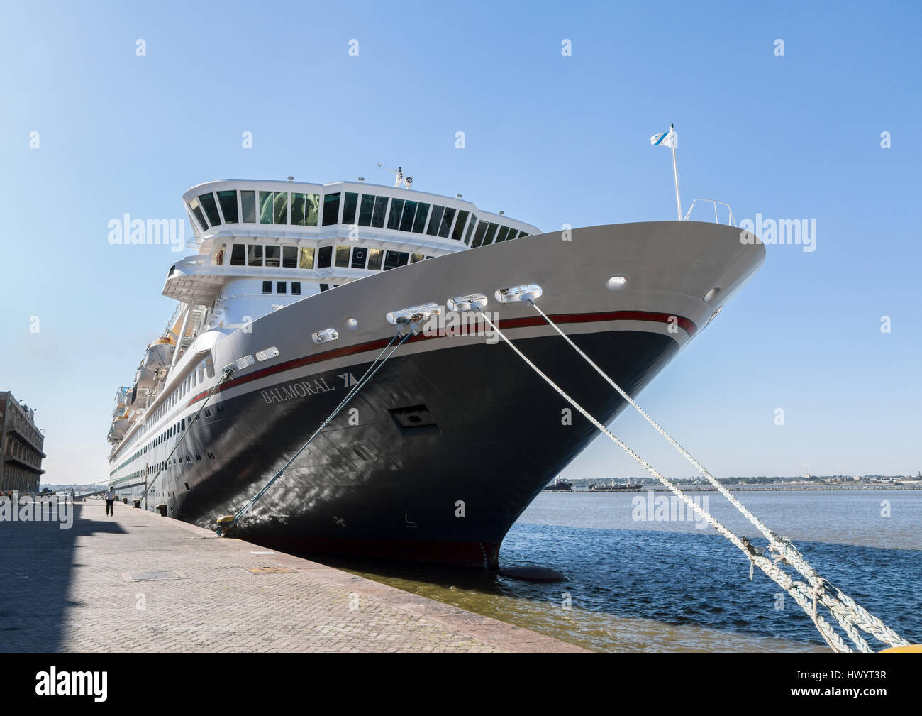 Balmoral Fred Olsen Cruise Ship Moored In Montevideo Stock Photo - Balmoral cruise ship schedule