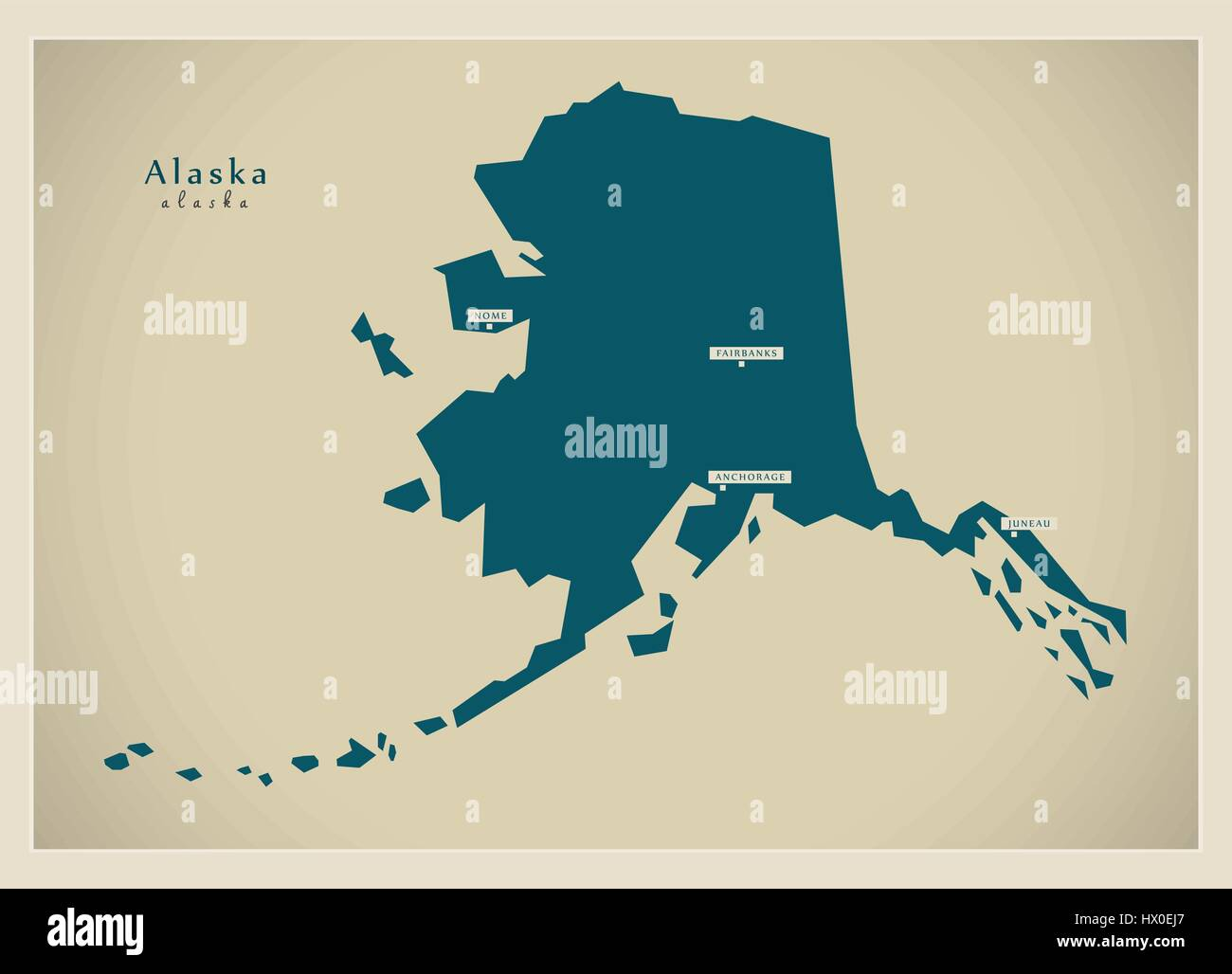 Modern Map Alaska USA Stock Vector Art Illustration Vector - Alaska usa map