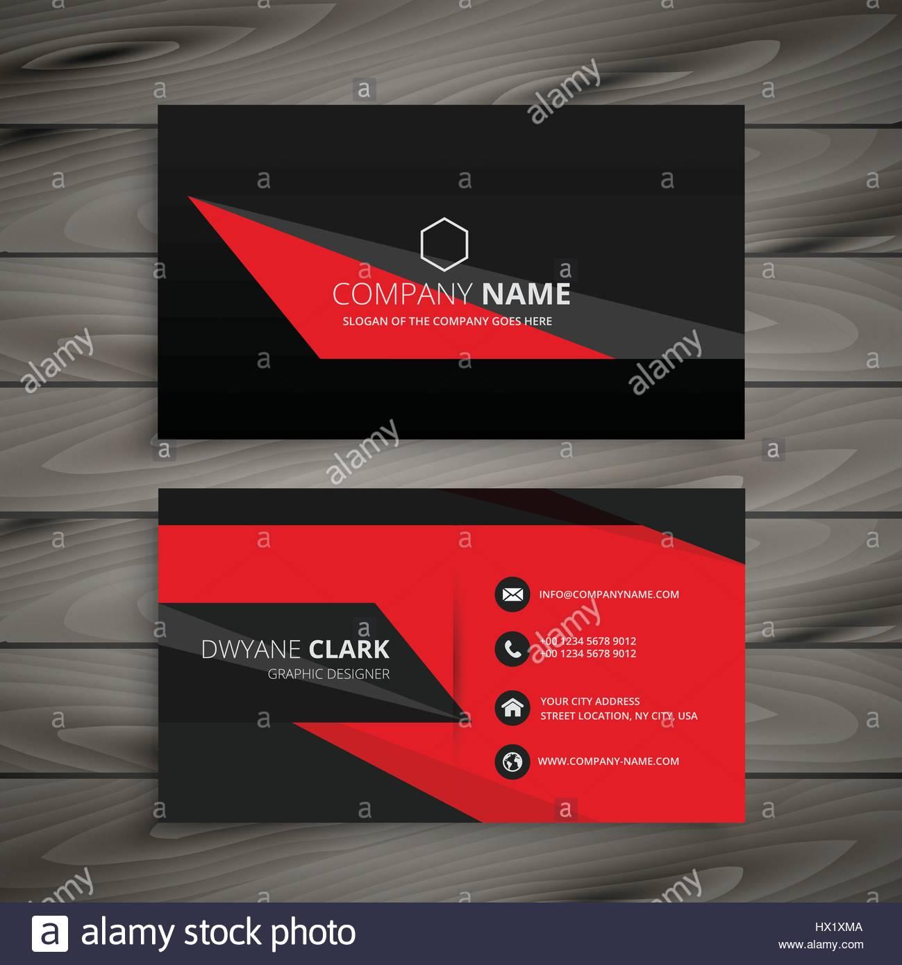 dark red black business card template vector design illustration ...