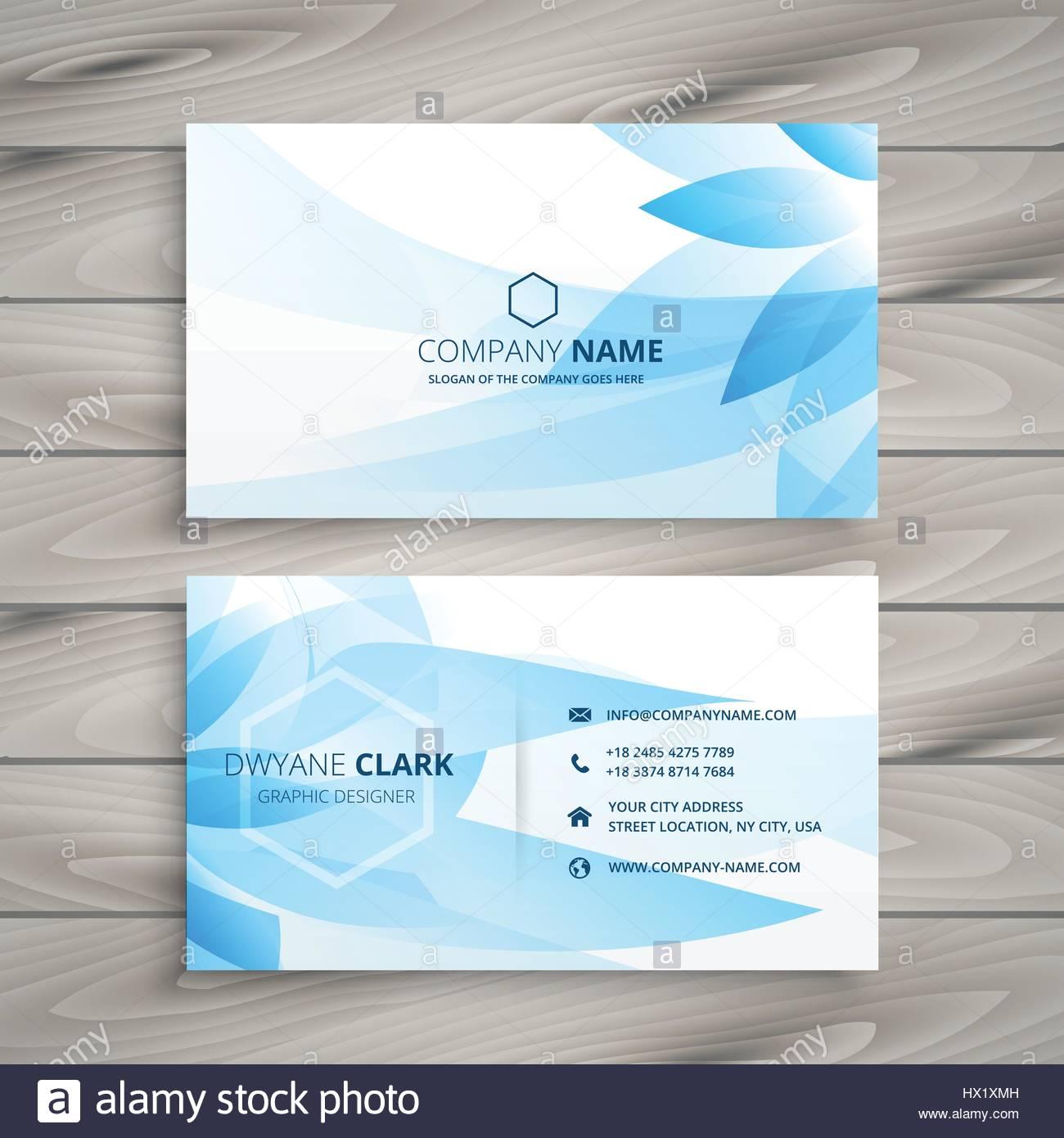 blue flower floral business card template vector design ...