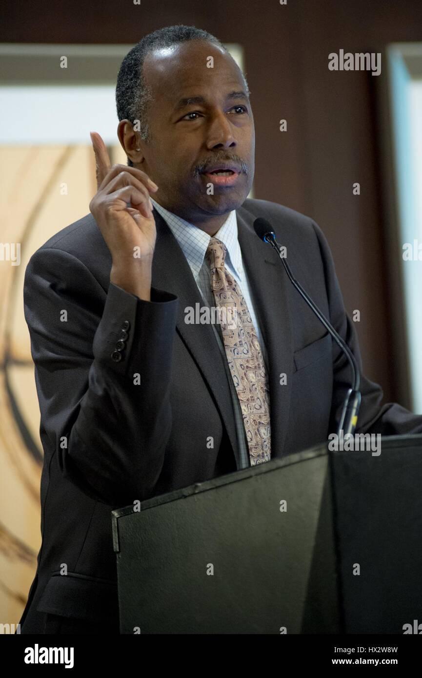 u.s. secretary of housing and urban development ben carson speaks