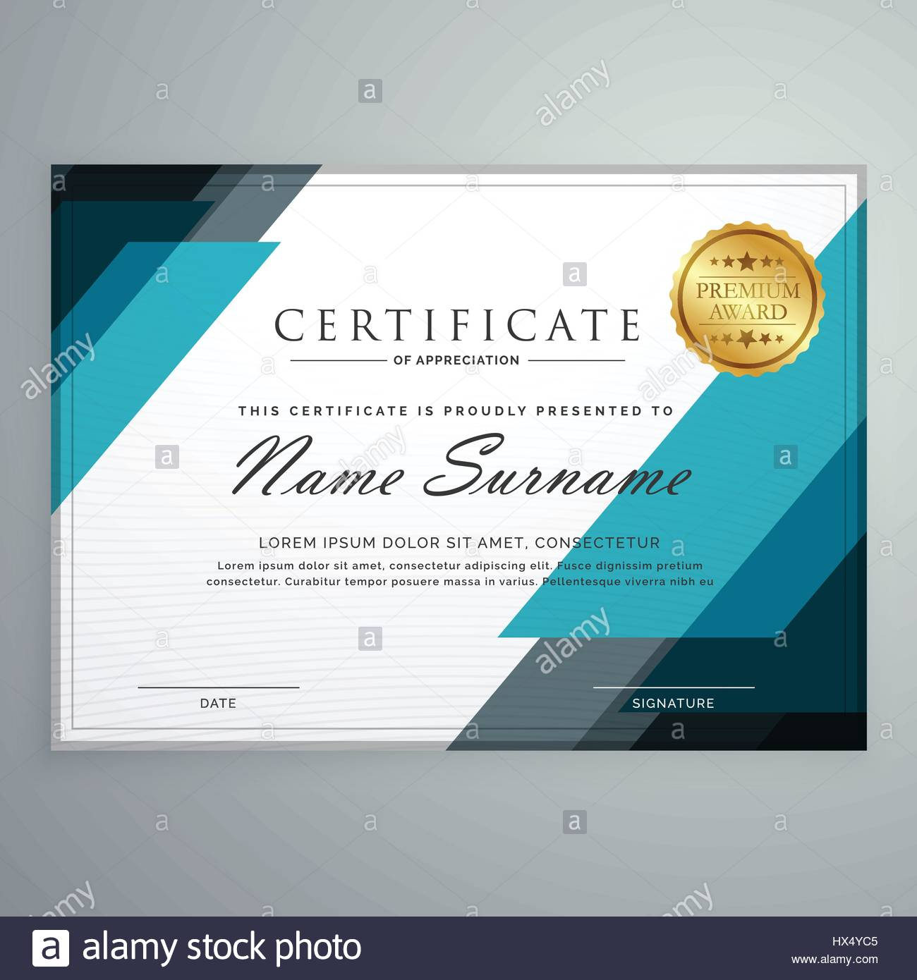 Stylish certificate of appreciation award design template with stylish certificate of appreciation award design template with geometric shapes yadclub Images