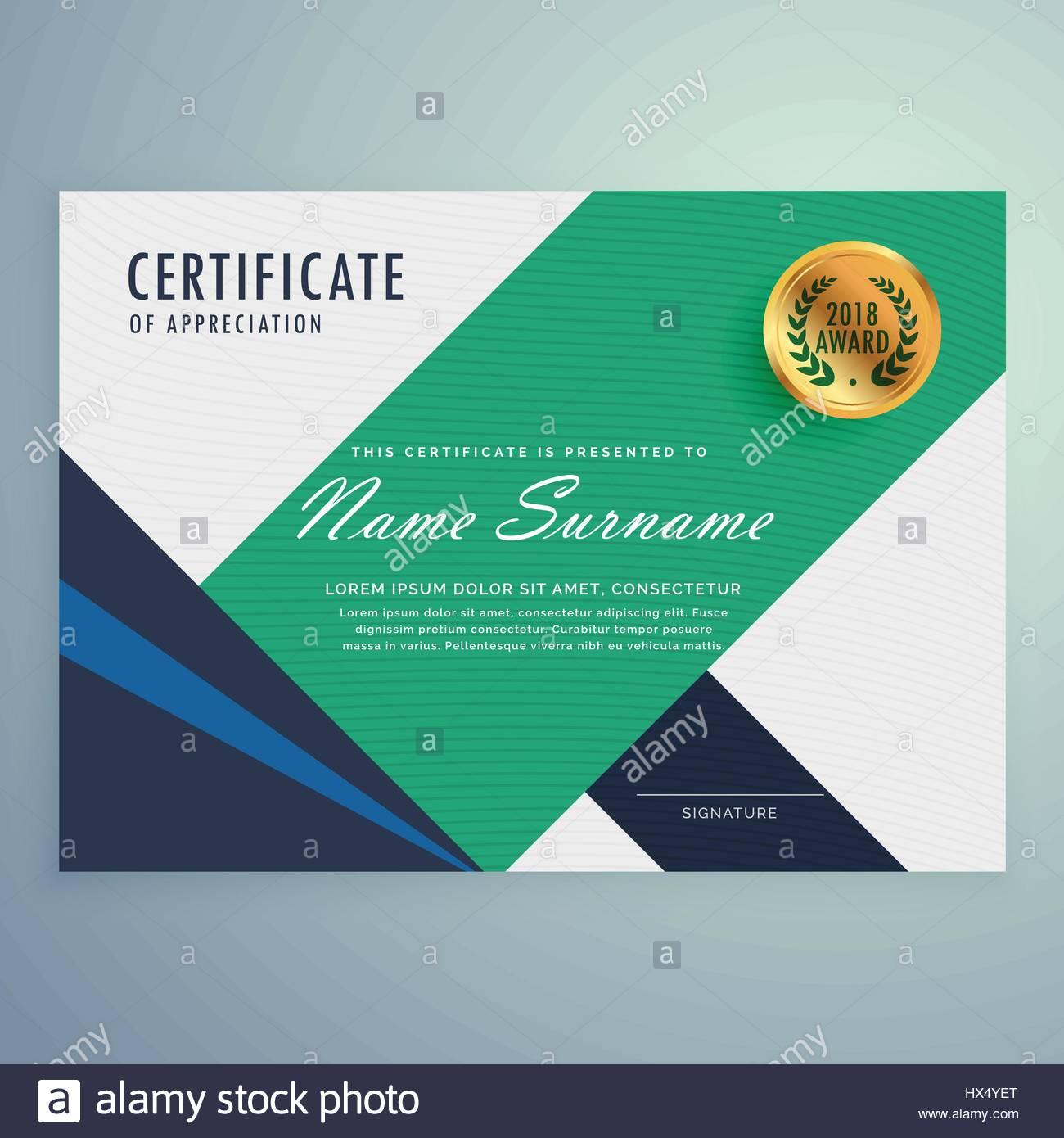Modern certificate of appreciation template with geometric shapes modern certificate of appreciation template with geometric shapes yadclub Images