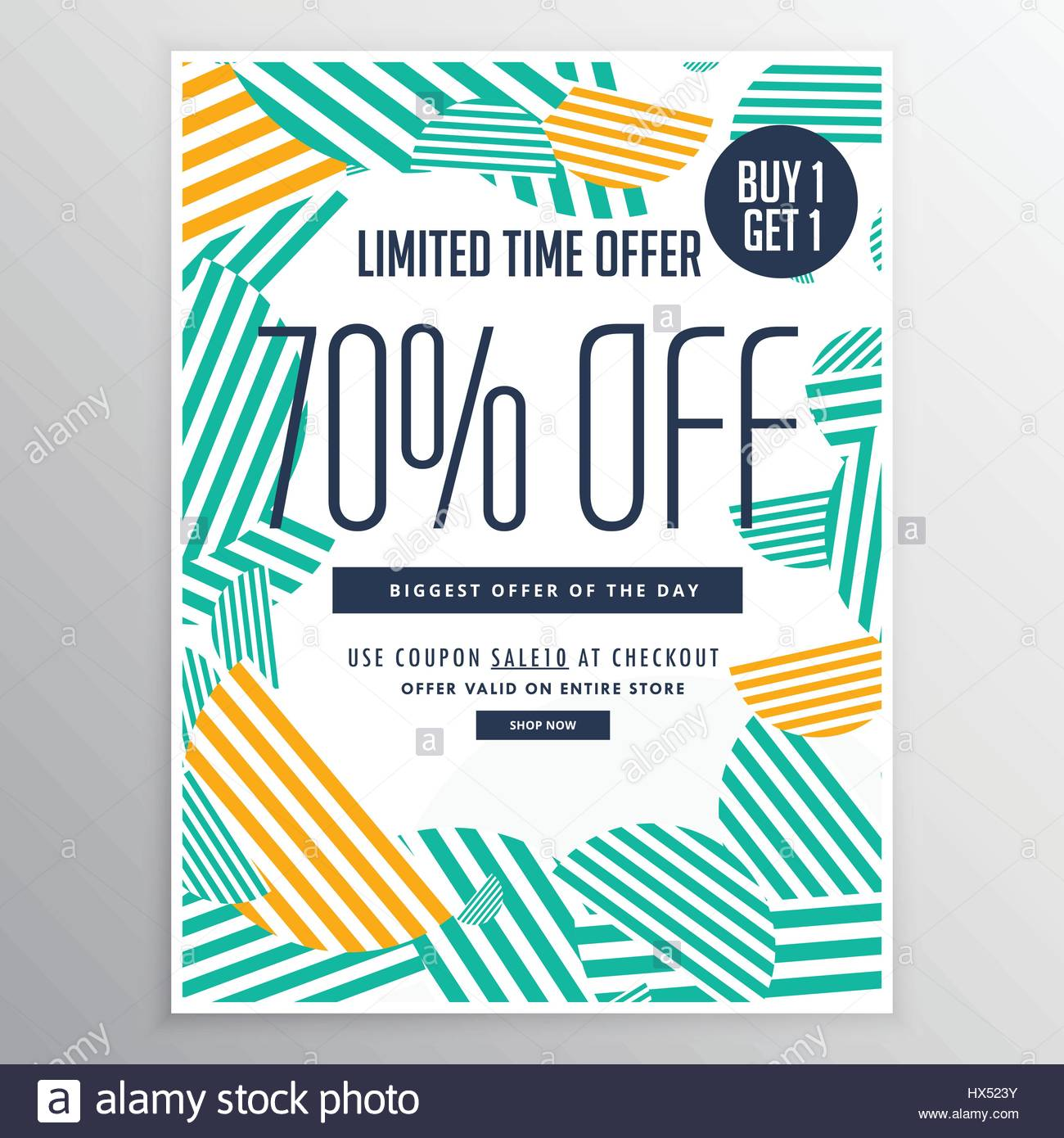Modern Trendy Sale Promotional Discount Brochure Template With - Promotional brochure template